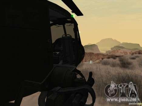 Hélicoptère Huey de l'appel du devoir de black o pour GTA San Andreas vue intérieure