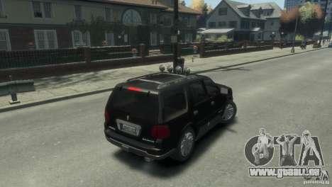 Lincoln Navigator für GTA 4 hinten links Ansicht