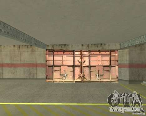 Porte pneumatique dans la zone 69 pour GTA San Andreas troisième écran
