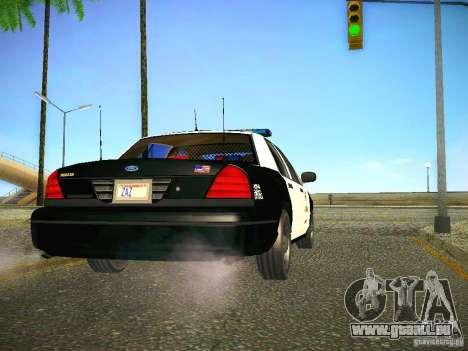 Ford Crown Victoria Police Intercopter für GTA San Andreas rechten Ansicht