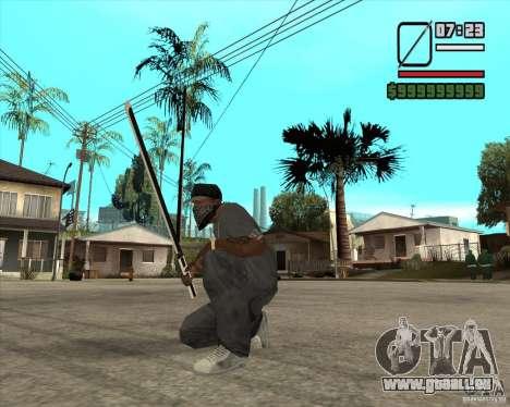 Sasuke sword pour GTA San Andreas deuxième écran