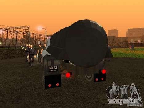GAZ 53 Flusher für GTA San Andreas zurück linke Ansicht
