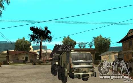Missile Launcher Truck pour GTA San Andreas vue arrière