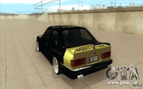 BMW E30 323i pour GTA San Andreas vue de côté