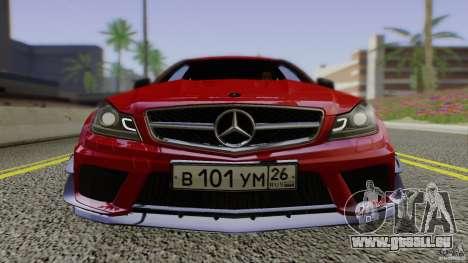 Mercedes Benz C63 AMG Black Series 2012 für GTA San Andreas Rückansicht