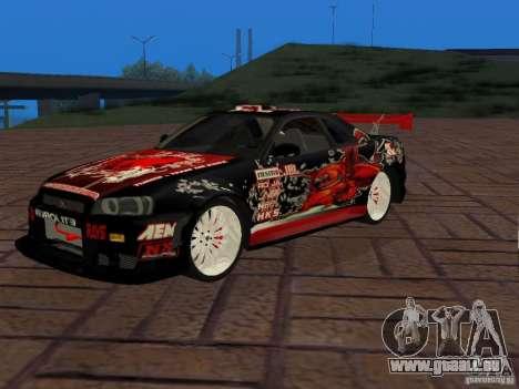 Nissan Skyline GT-R R34 Tunable für GTA San Andreas rechten Ansicht