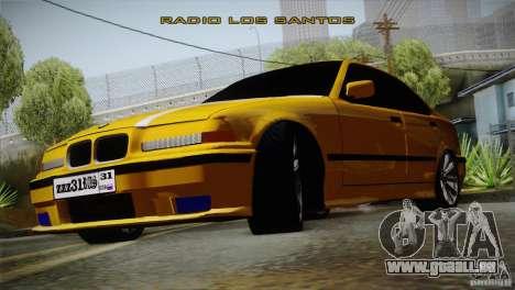 BMW M3 Z366 pour GTA San Andreas sur la vue arrière gauche