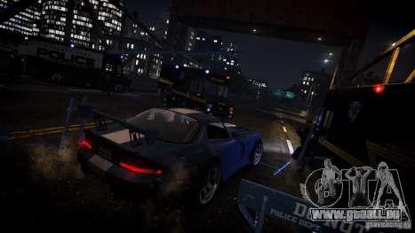Boxville Police pour GTA 4 Vue arrière