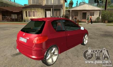 Peugeot 206 für GTA San Andreas rechten Ansicht
