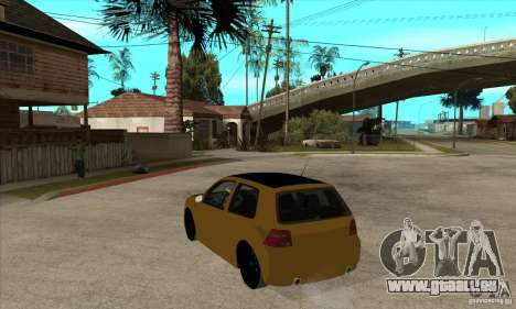 VW Golf 4 R32 für GTA San Andreas zurück linke Ansicht