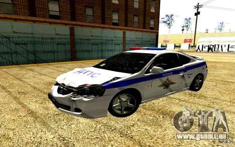 Acura RSX-S Polizei für GTA San Andreas Seitenansicht