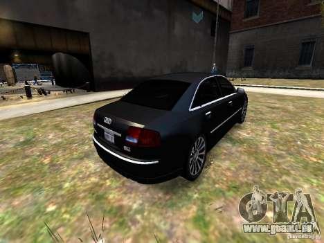 Audi A8L W12 pour GTA 4 Vue arrière