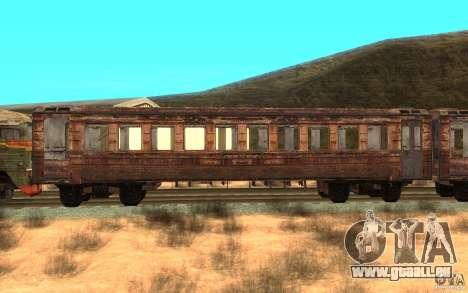 Ein Zug von dem Spiel s.t.a.l.k.e.r. für GTA San Andreas linke Ansicht