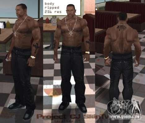 Navetsea CJ Skin Tweak 512 r2 pour GTA San Andreas deuxième écran