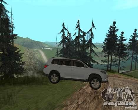 Toyota Highlander pour GTA San Andreas vue arrière
