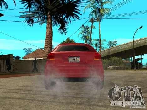 Audi S3 2006 Juiced 2 pour GTA San Andreas sur la vue arrière gauche