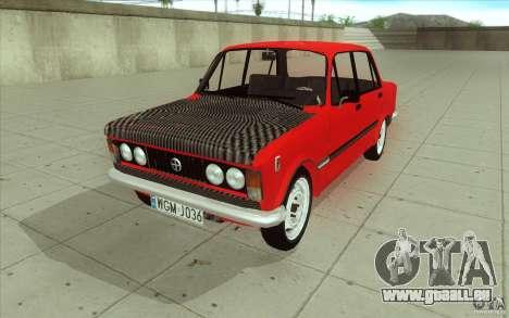 Fiat 125p pour GTA San Andreas vue de dessus