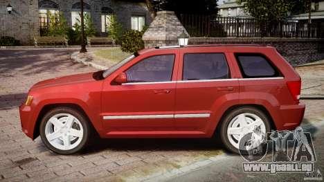 Jeep Grand Cherokee pour GTA 4 est une gauche