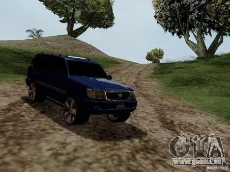 Toyota Land Cruiser 100 für GTA San Andreas rechten Ansicht