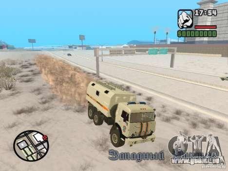 KAMAZ MES version 2 pour GTA San Andreas vue de droite