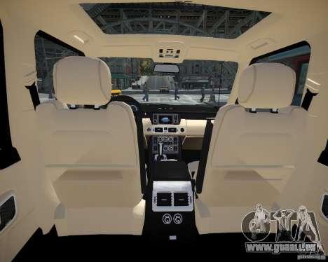 Land Rover SuperSharged pour GTA 4 est une vue de l'intérieur