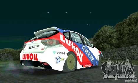 Subaru Impreza WRX STi Russia Rally pour GTA San Andreas vue arrière