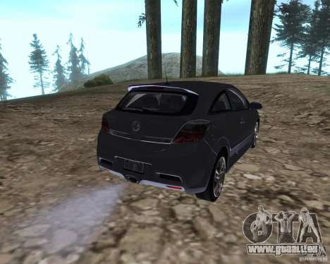 Vauxhall Astra VXR für GTA San Andreas zurück linke Ansicht
