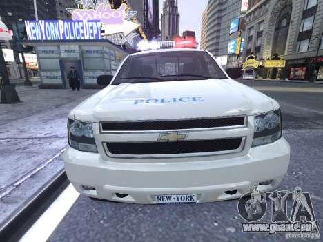Chevrolet Tahoe Homeland Security pour GTA 4 est une vue de l'intérieur