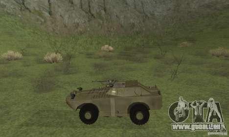 BRDM-1 Skin 2 für GTA San Andreas zurück linke Ansicht