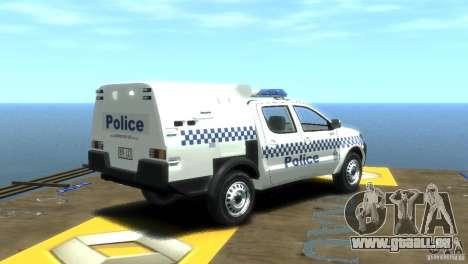 Toyota Hilux Australian Police ELS für GTA 4 hinten links Ansicht