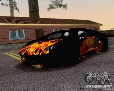 Travaux de peinture Lamborghini Aventador LP700- pour GTA San Andreas vue de droite