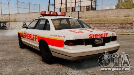 Une nouvelle voiture de Police pour GTA 4 Vue arrière de la gauche