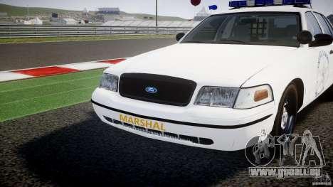 Ford Crown Victoria US Marshal [ELS] pour GTA 4 vue de dessus