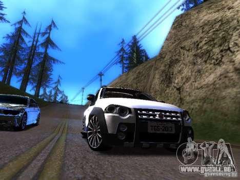 Fiat Strada pour GTA San Andreas laissé vue