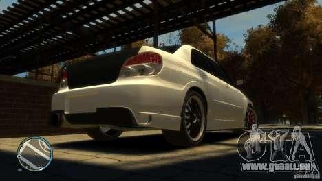 Subaru Impreza 2005 für GTA 4 Rückansicht
