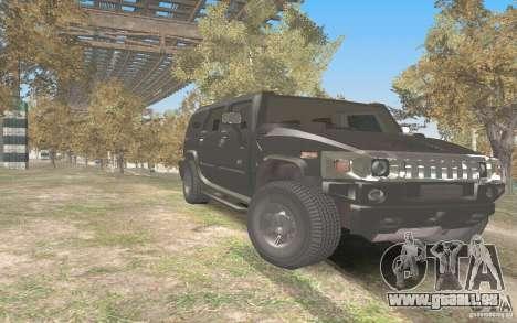 Hummer H2 Stock für GTA San Andreas Rückansicht