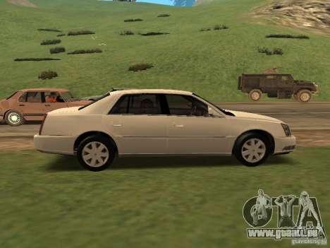 Cadillac DTS 2010 pour GTA San Andreas sur la vue arrière gauche