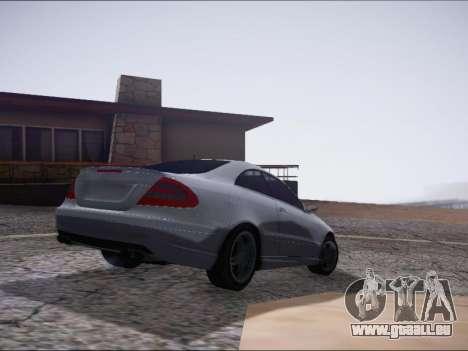 Mercedes-Benz CLK pour GTA San Andreas sur la vue arrière gauche