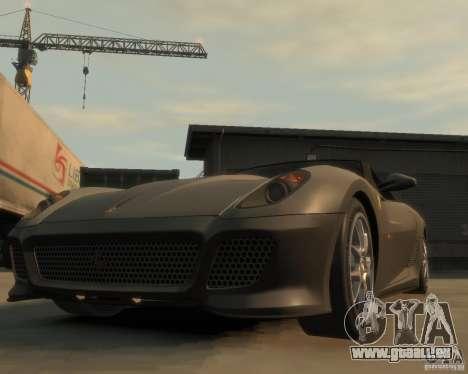 Ferrari 599 GTO pour GTA 4 Vue arrière
