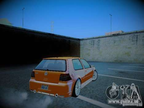 Volkswagen Golf Mk4 R32 pour GTA San Andreas sur la vue arrière gauche