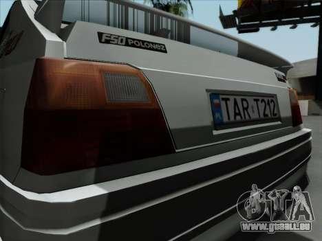 FSO Polonez Caro Orciari 1.4 GLI 16v pour GTA San Andreas vue de droite