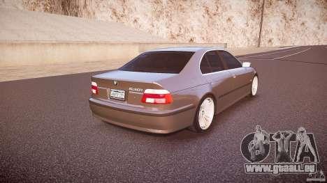 BMW 530I E39 stock white wheels pour GTA 4 est un côté