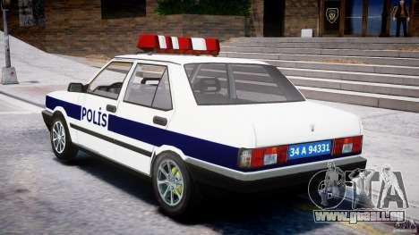 Tofas Sahin Turkish Police v1.0 pour GTA 4 Vue arrière de la gauche