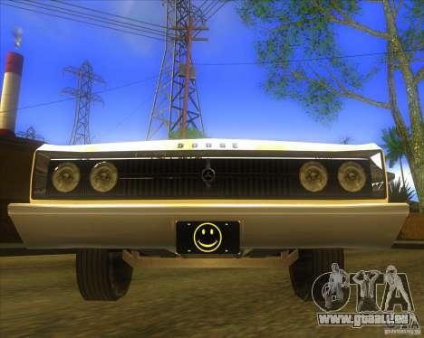 Dodge Coronet 1967 pour GTA San Andreas vue arrière