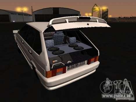 ВАЗ 2114-Bully für GTA San Andreas Innenansicht