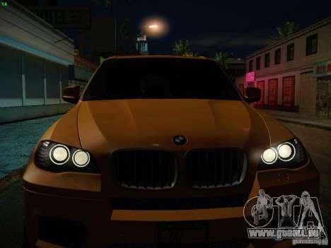 BMW X5M 2011 pour GTA San Andreas moteur