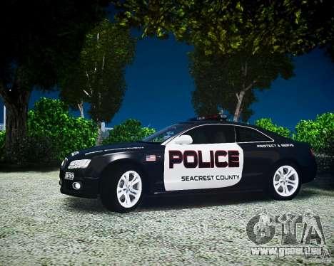 Audi S5 Police pour GTA 4 Vue arrière de la gauche