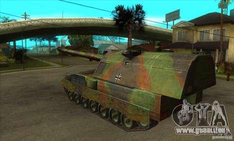Panzerhaubitze 2000 pour GTA San Andreas sur la vue arrière gauche