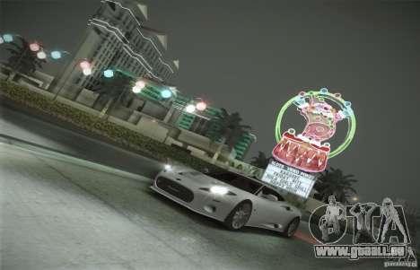 Spyker C8 Aileron pour GTA San Andreas vue de dessous