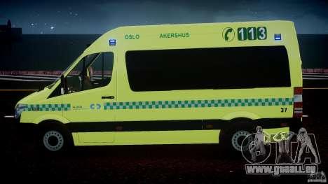 Mercedes-Benz Sprinter PK731 Ambulance [ELS] pour GTA 4 Salon